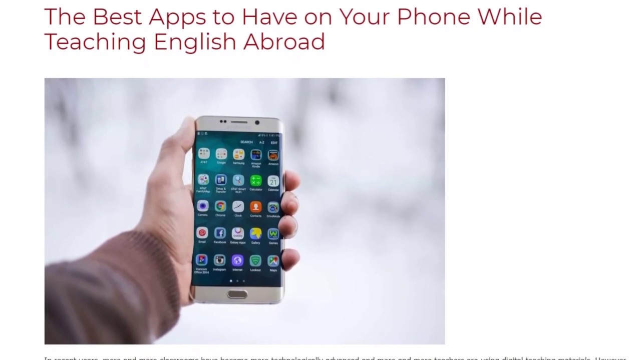 The Best Apps to Have on Your Phone While Teaching English Abroad | ITTT TEFL BLOG