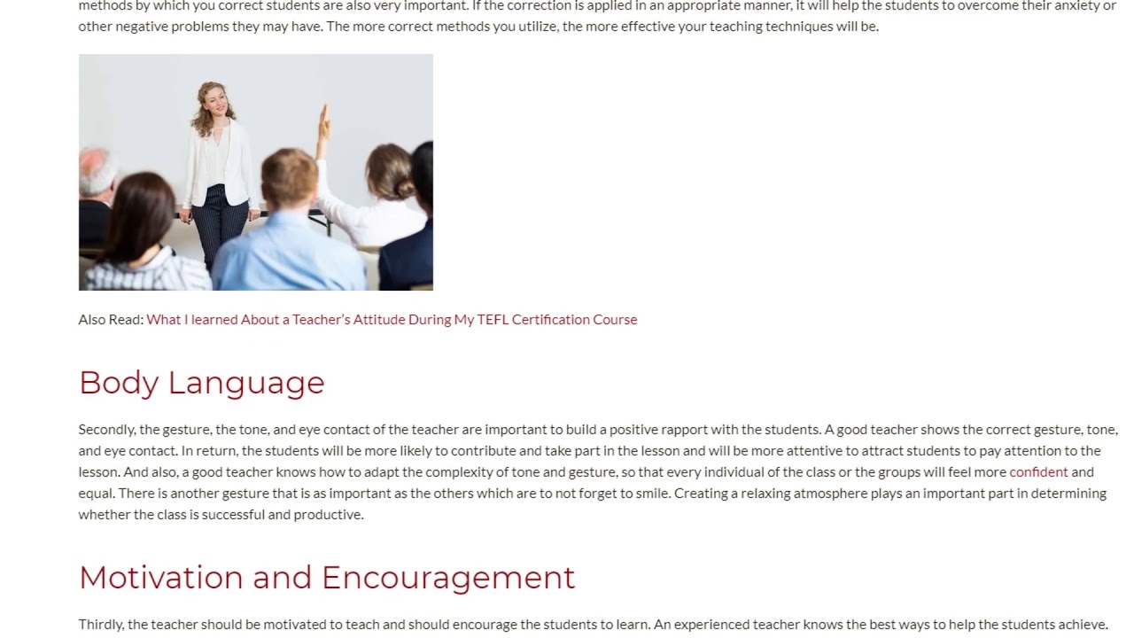 Why Are Teaching Skills Important | ITTT TEFL BLOG