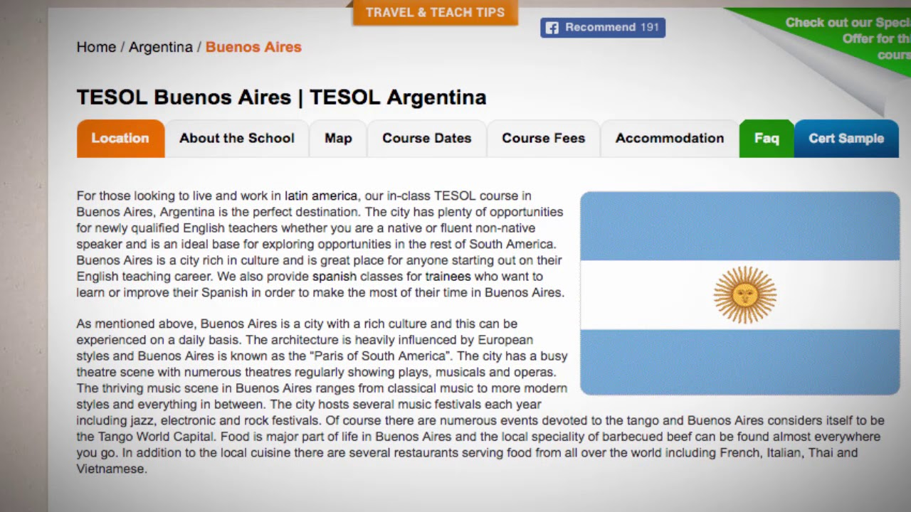 TESOL Course in Buenos Aires, Argentina | Teach & Live abroad!