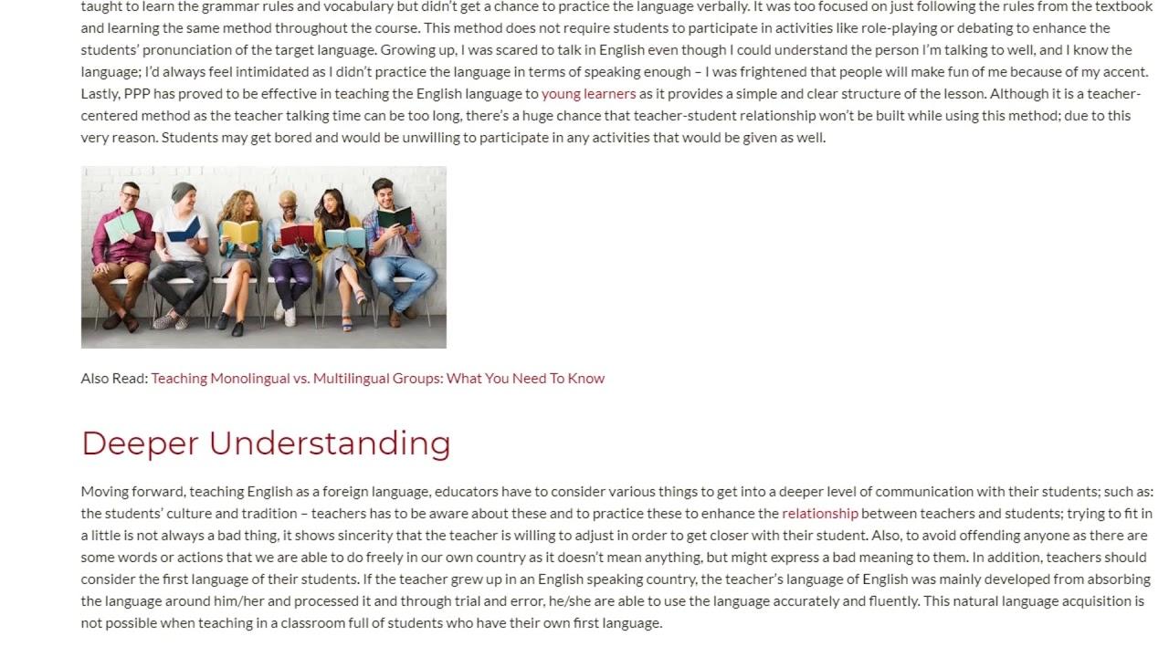 The Relevance of Teaching Methodologies in Real Practice | ITTT TEFL BLOG