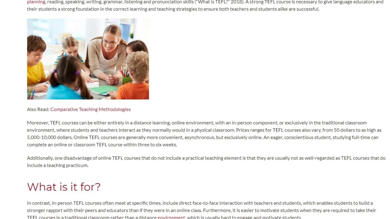 The Benefits of a TEFL Certification for English Language Educators | ITTT TEFL BLOG