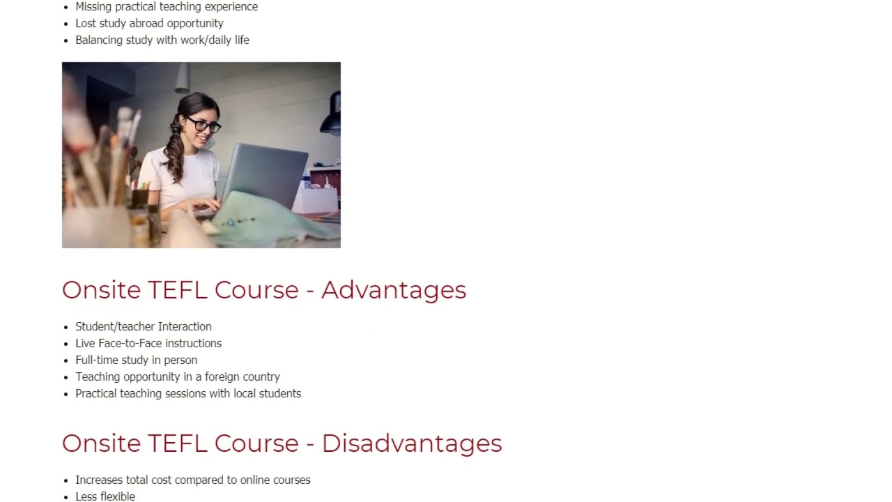 Finding the Right Fit for English Teachers – Online TEFL or Onsite TEFL Course | ITTT TEFL BLOG