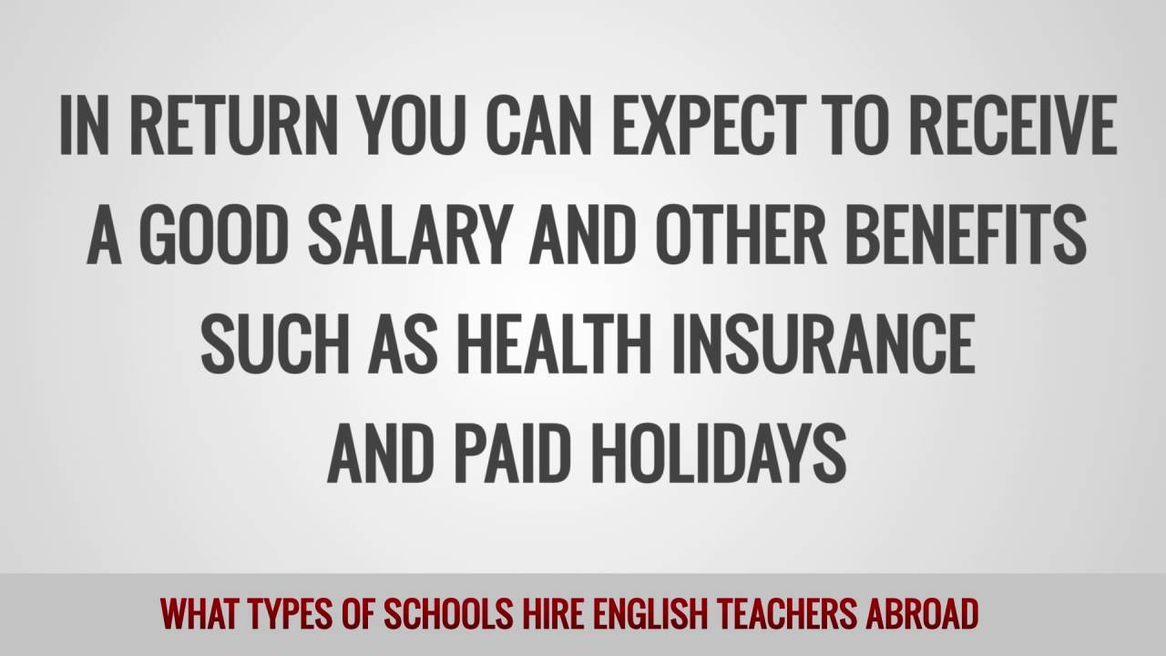 What types of schools hire English teachers abroad?