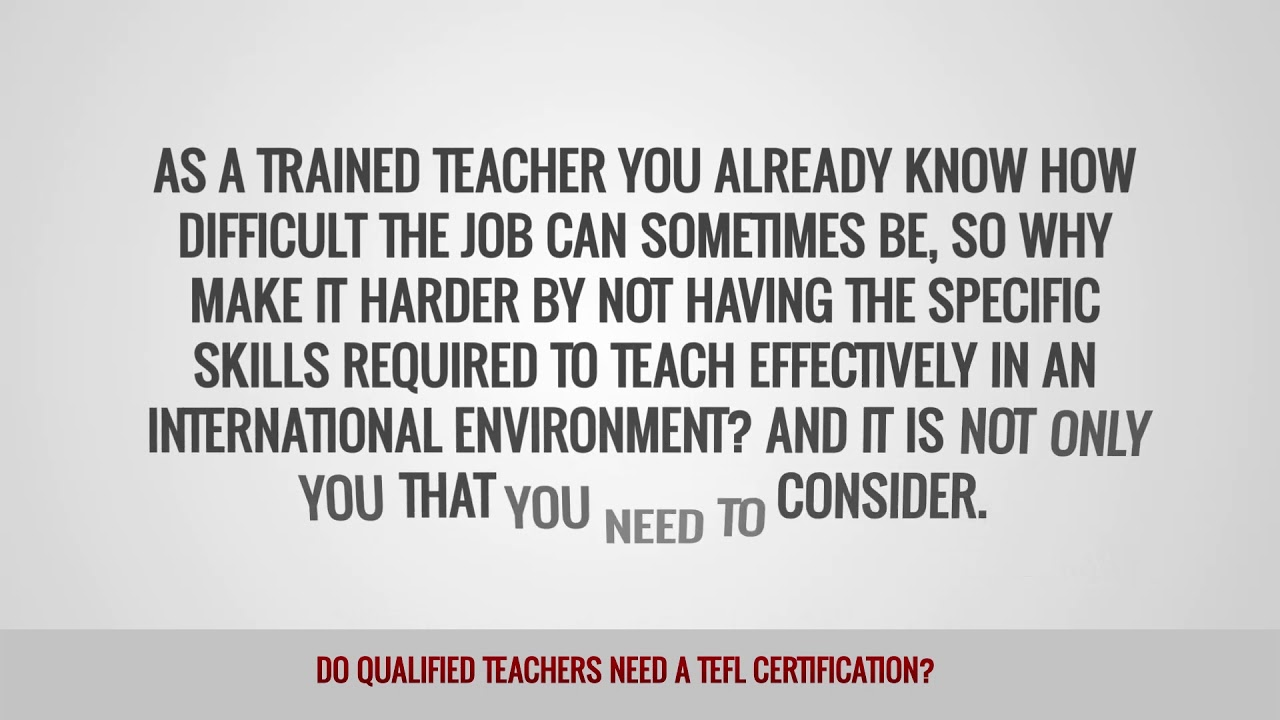 ITTT FAQs – Do qualified teachers need a TEFL certification?