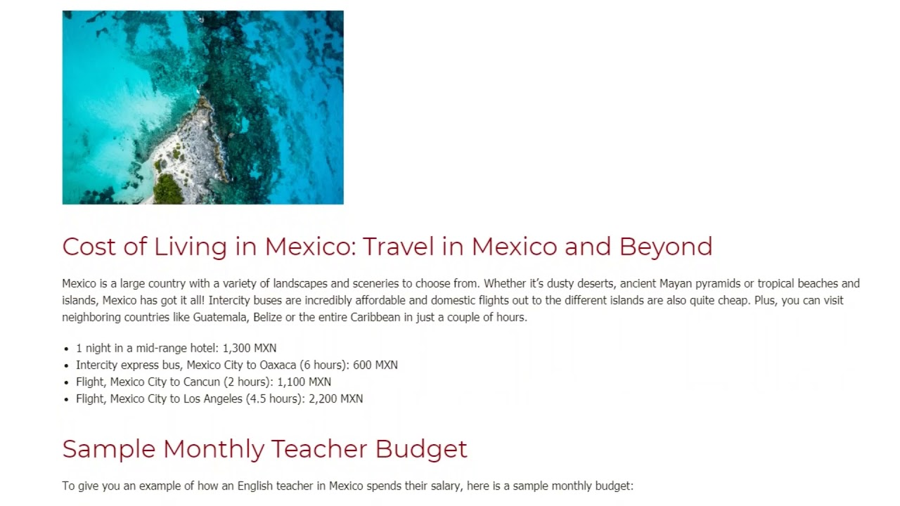 Teaching English in Mexico – The Salary and Budget Guide | ITTT | TEFL Blog