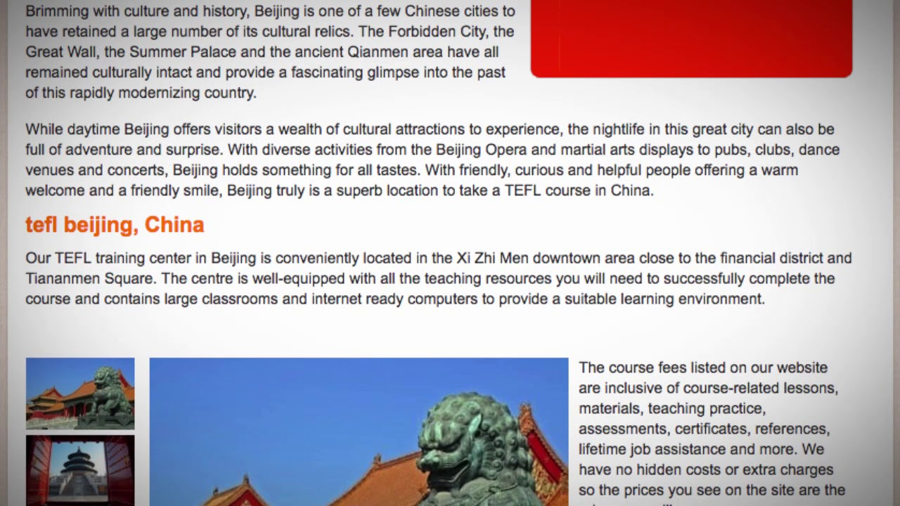 TEFL / TESOL Course in Beijing, China | Teach & Live abroad!