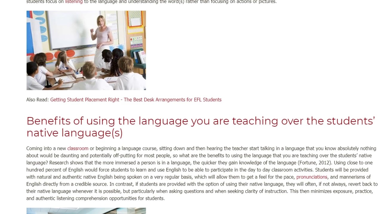 How to Keep Beginner Students Motivated Avoiding Their Native Language | ITTT TEFL BLOG