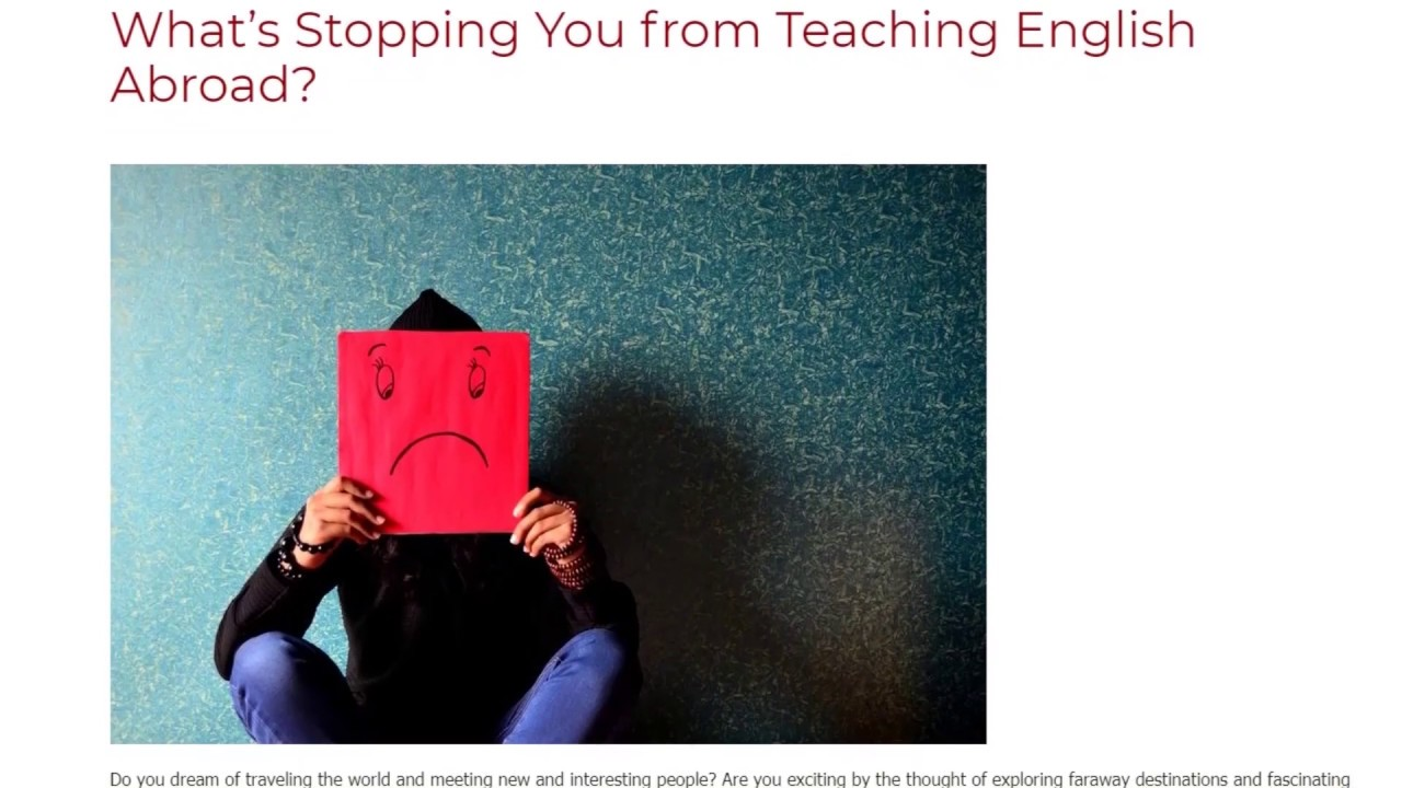 What's Stopping You from Teaching English Abroad | ITTT TEFL BLOG