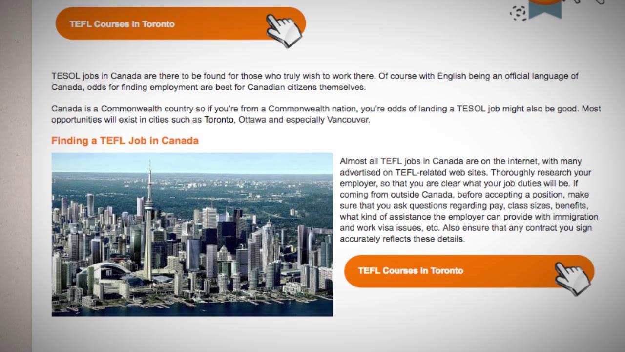 TEFL/TESOL Jobs in Canada | International TEFL and TESOL Training (ITTT)
