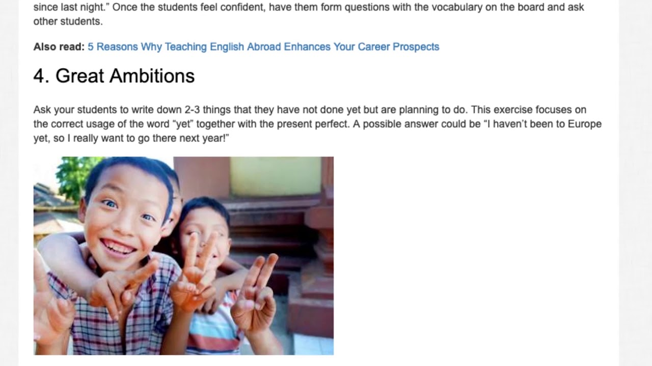 Top English Exercises for Teaching English Tenses | ITTT TEFL BLOG