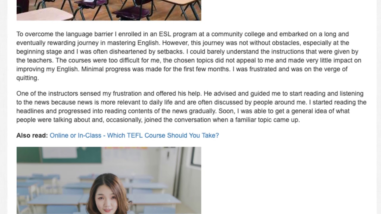 From Immigrant to ESL Teacher   A TEFL Graduate's English Teaching Journey | ITTT TEFL BLOG