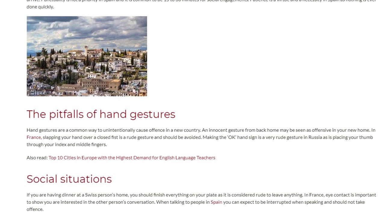 Different Rules of Etiquette in European Countries | ITTT TEFL BLOG