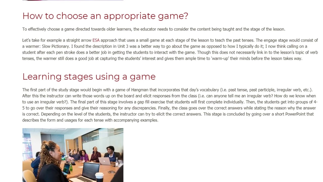 How can an instructor effectively use games with adult EFL students | ITTT TEFL BLOG