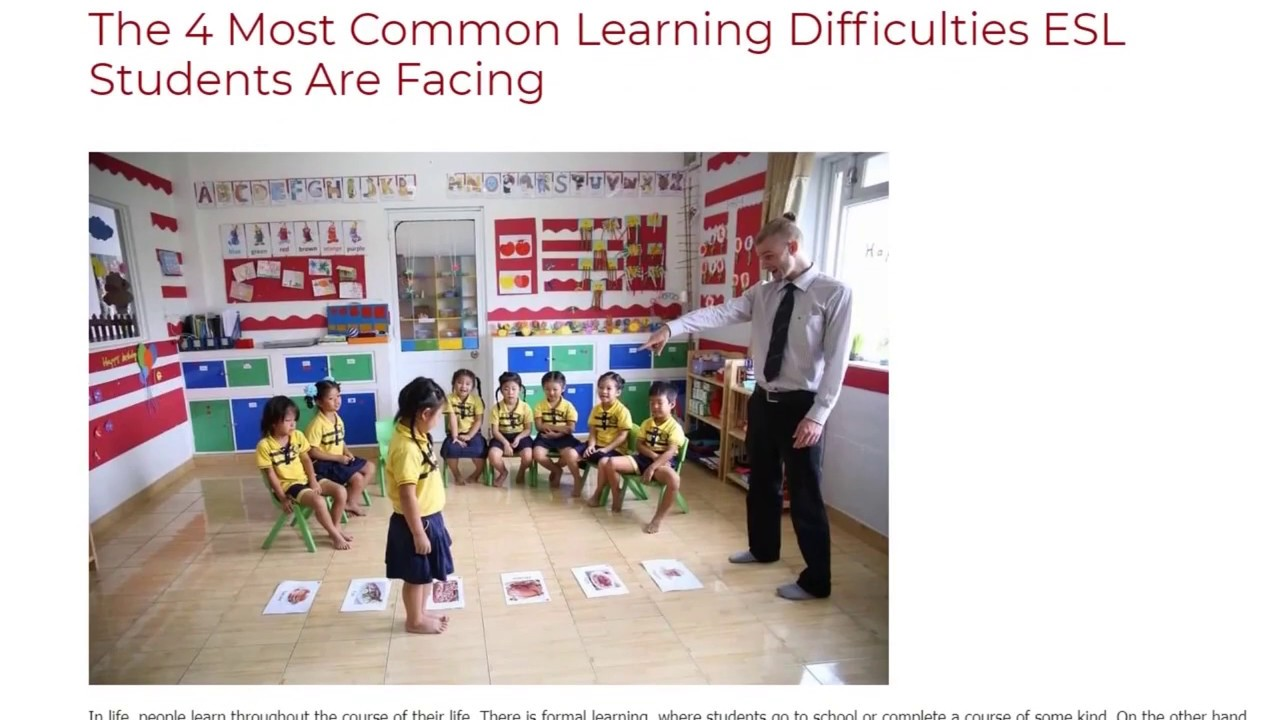 The 4 Most Common Learning Difficulties ESL Students Are Facing | ITTT TEFL BLOG