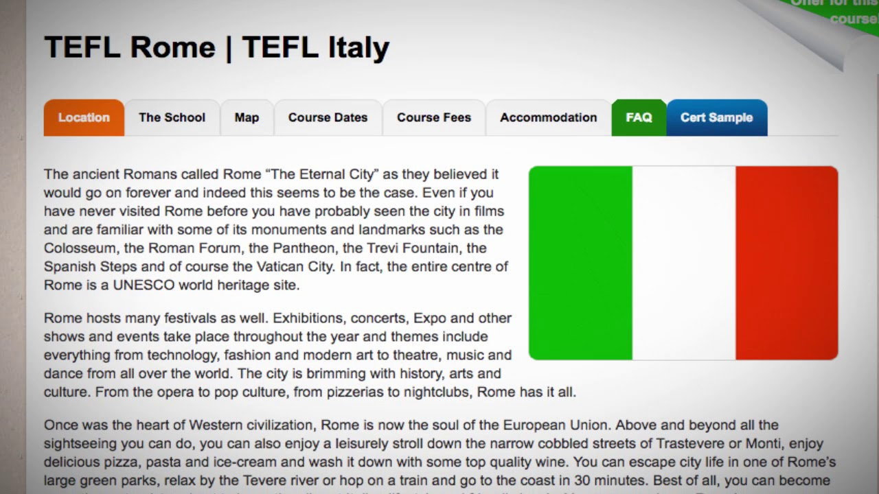 TEFL / TESOL Course in Rome, Italy | Teach & Live abroad!