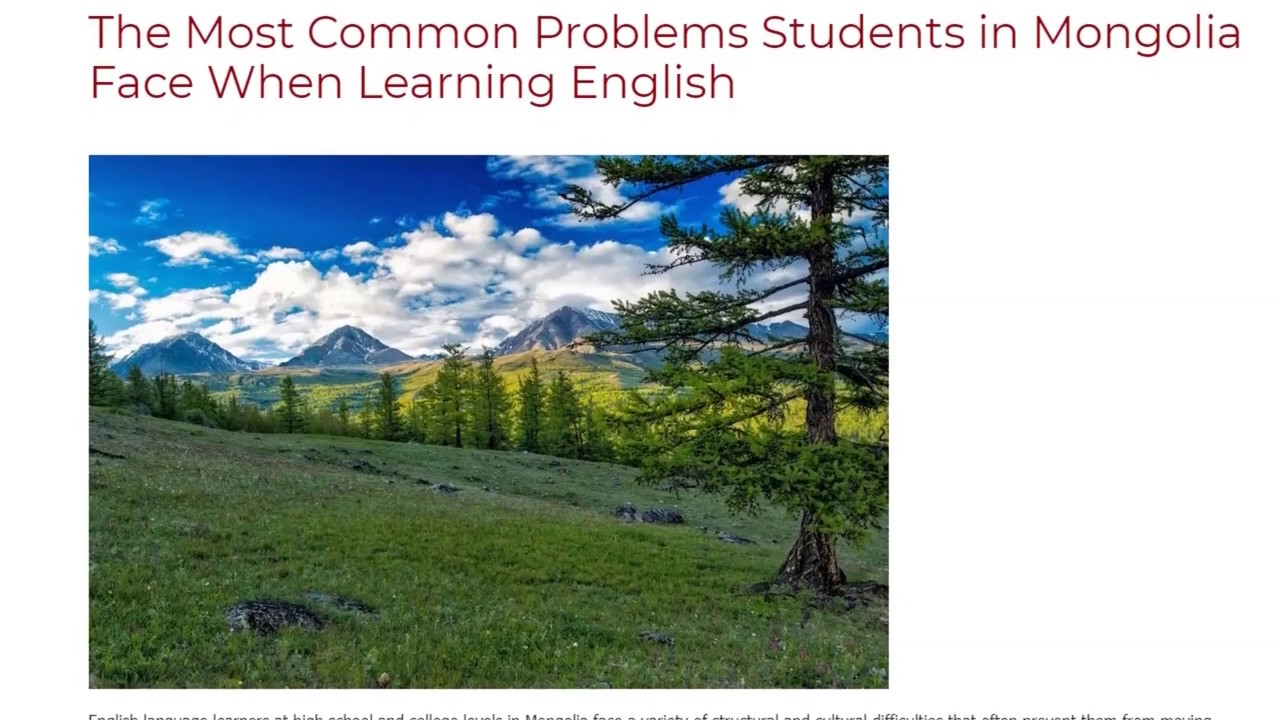 The Most Common Problems Students in Mongolia Face When Learning English | ITTT TEFL BLOG