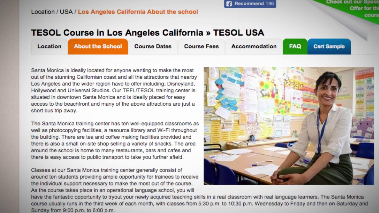 Welcome to Our TEFL / TESOL School in Los Angeles, USA | Teach & Live abroad!