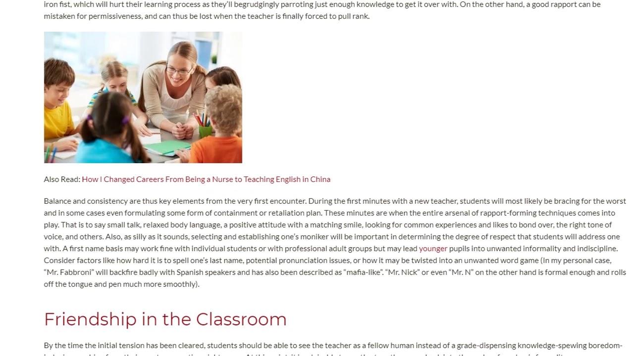 Balancing Rapport and Discipline in School-Aged Groups | ITTT TEFL BLOG