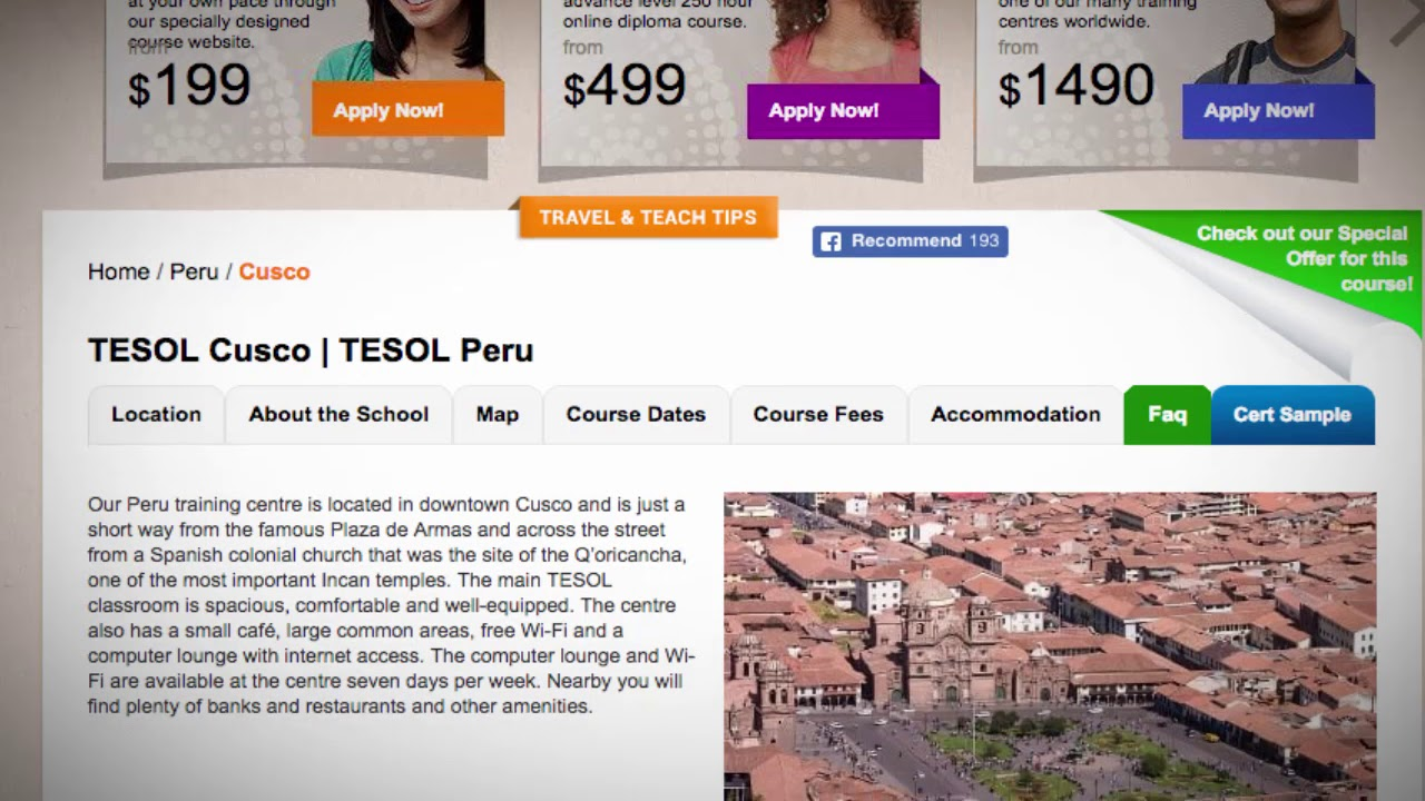 Welcome to Our TESOL School in Cusco, Peru | Teach & Live abroad!
