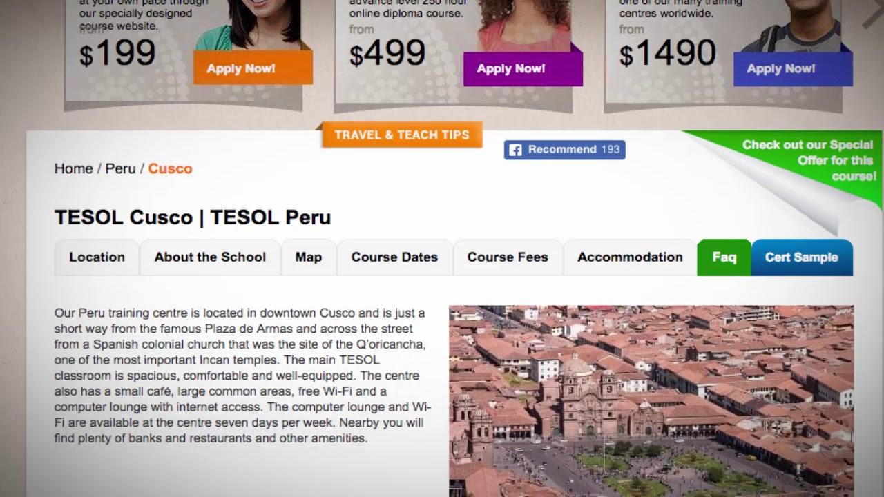 Welcome to Our TESOL School in Cusco, Peru | Teach & Live abroad!