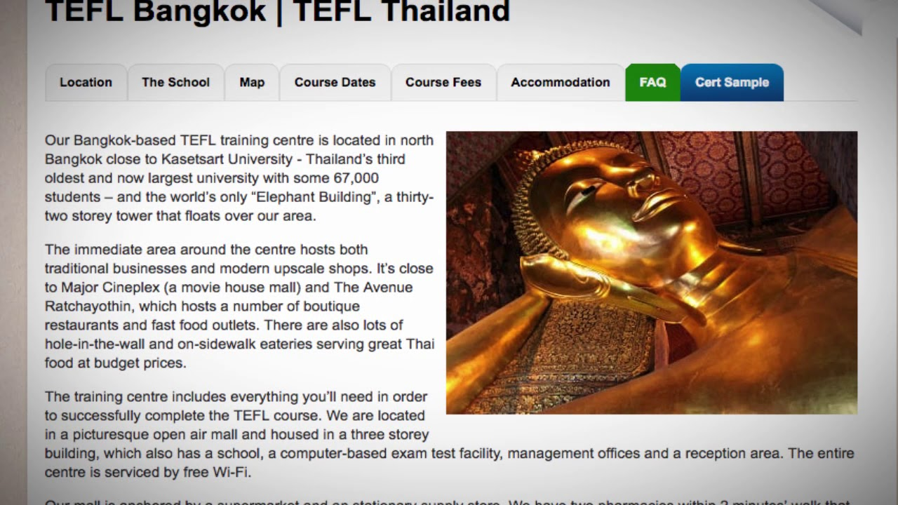 Welcome to Our TEFL / TESOL School in Bangkok, Thailand | Teach & Live abroad!