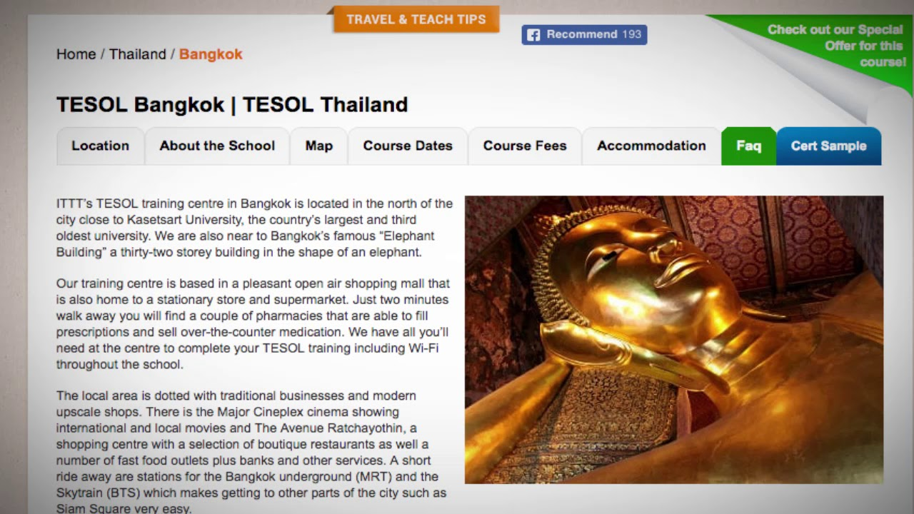 Welcome to Our TESOL School in Bangkok, Thailand   Teach & Live abroad!
