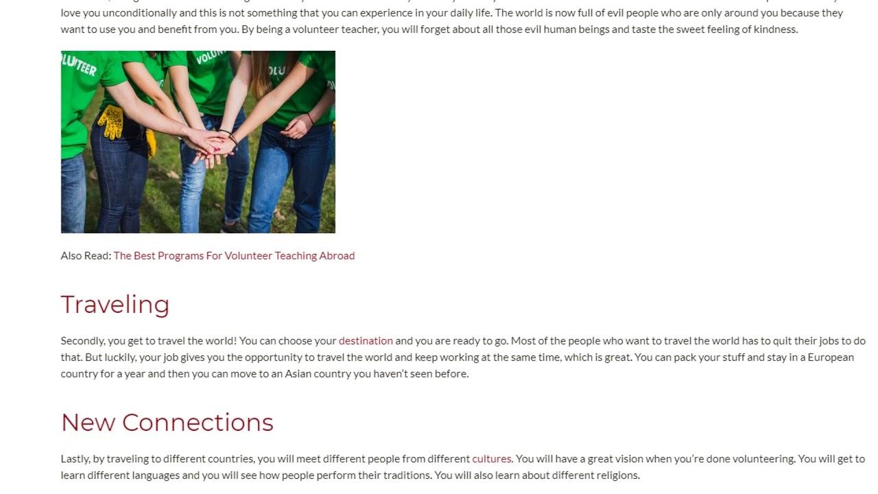 Amazing Perks of Being a Volunteer Teacher   ITTT TEFL BLOG