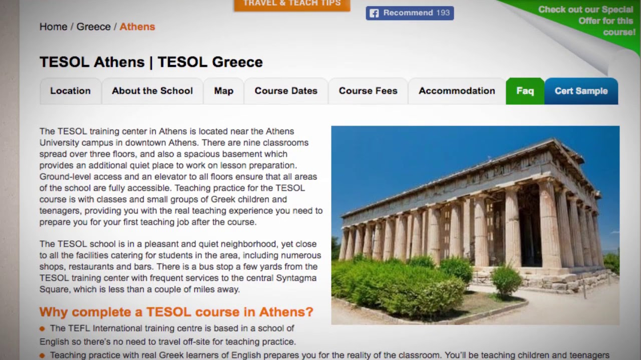 Welcome to Our TESOL School in Athens, Greece | Teach & Live abroad!