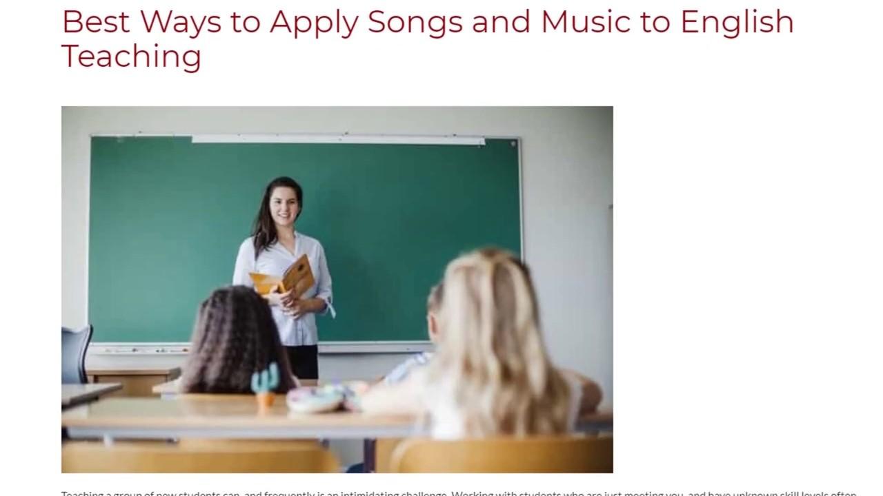 Best Ways to Apply Songs and Music to English Teaching | ITTT TEFL BLOG