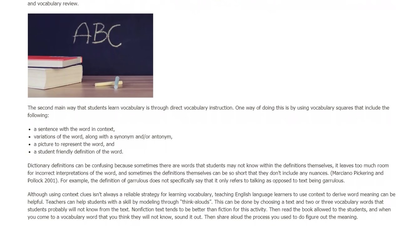Two Main Ways of Teaching Vocabulary to English Language Learners | ITTT TEFL BLOG