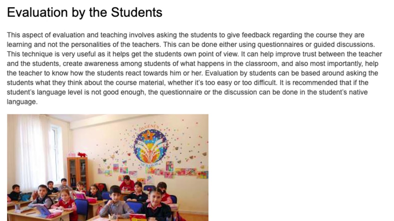 Evaluation and Testing of Students in the ESL Classroom | ITTT TEFL BLOG