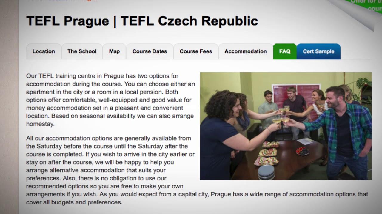 TEFL / TESOL School Accommodation in Prague, Czech Republic   Teach & Live abroad!