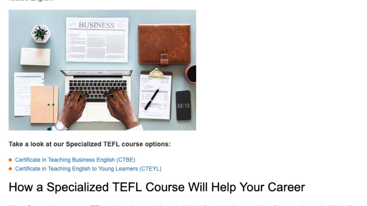 Why You Should Take Specialized TEFL Courses   ITTT TEFL BLOG