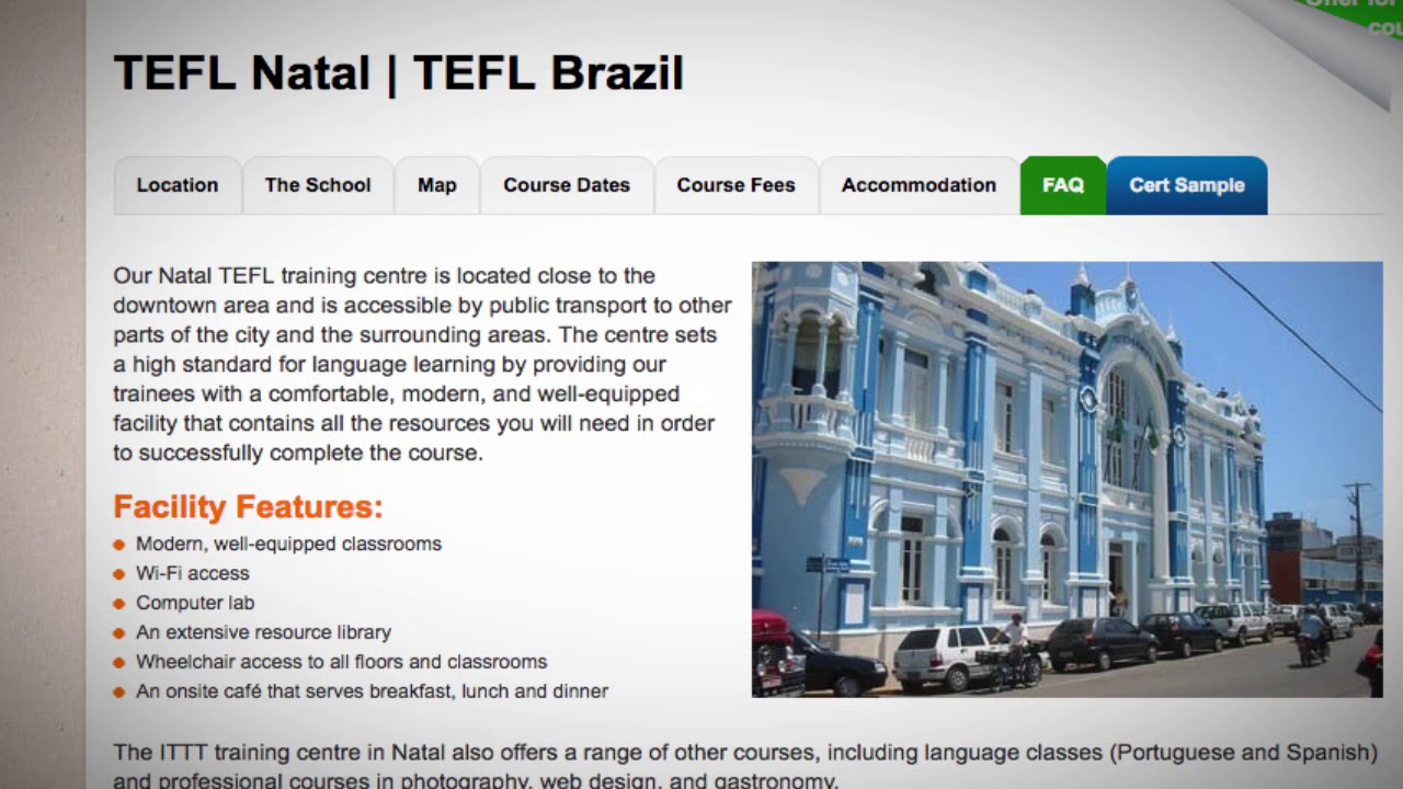 Welcome to Our TEFL / TESOL School in Natal, Brazil   Teach & Live abroad!