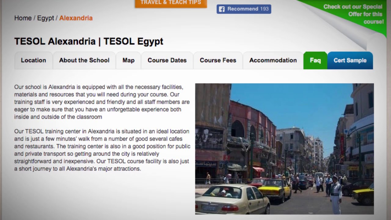 Welcome to Our TESOL School in Alexandria, Egypt | Teach & Live abroad!