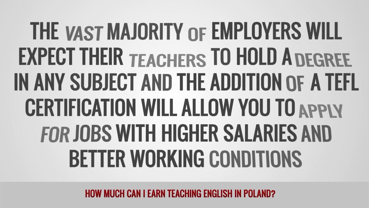 ITT FAQs – How much can I earn teaching English in Poland?
