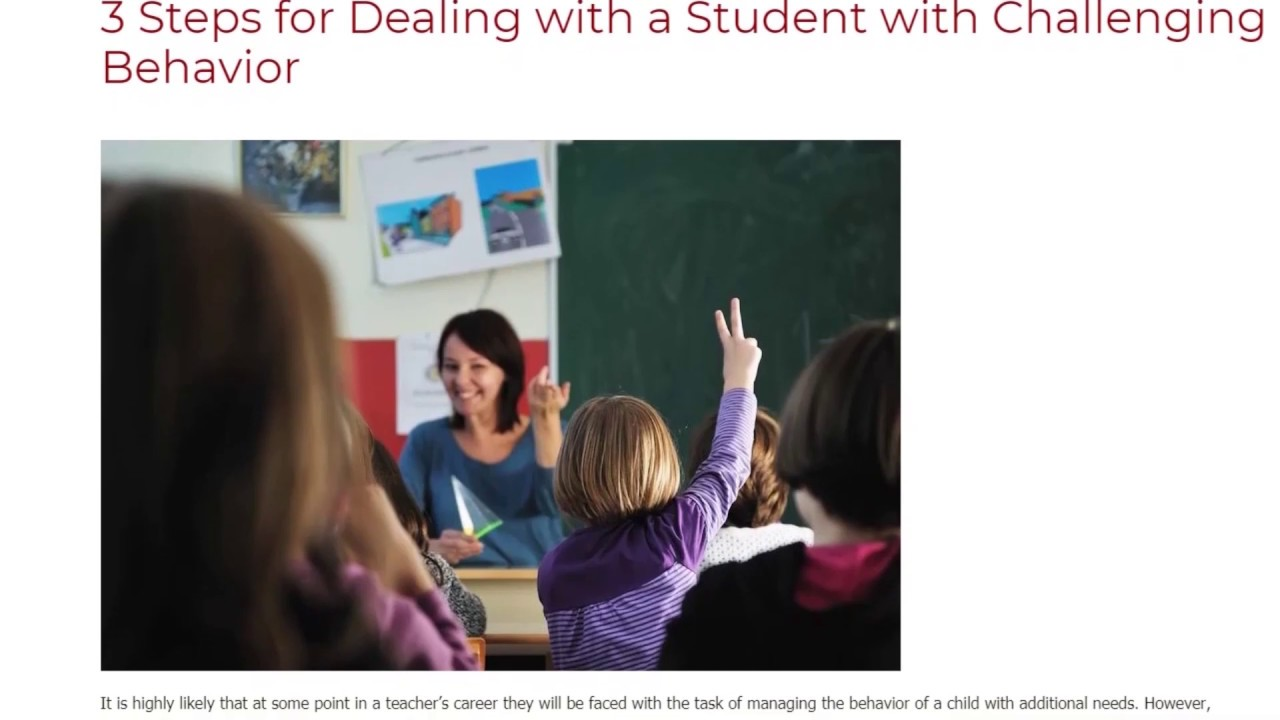 3 Steps for Dealing with a Student with Challenging Behavior   ITTT TEFL BLOG