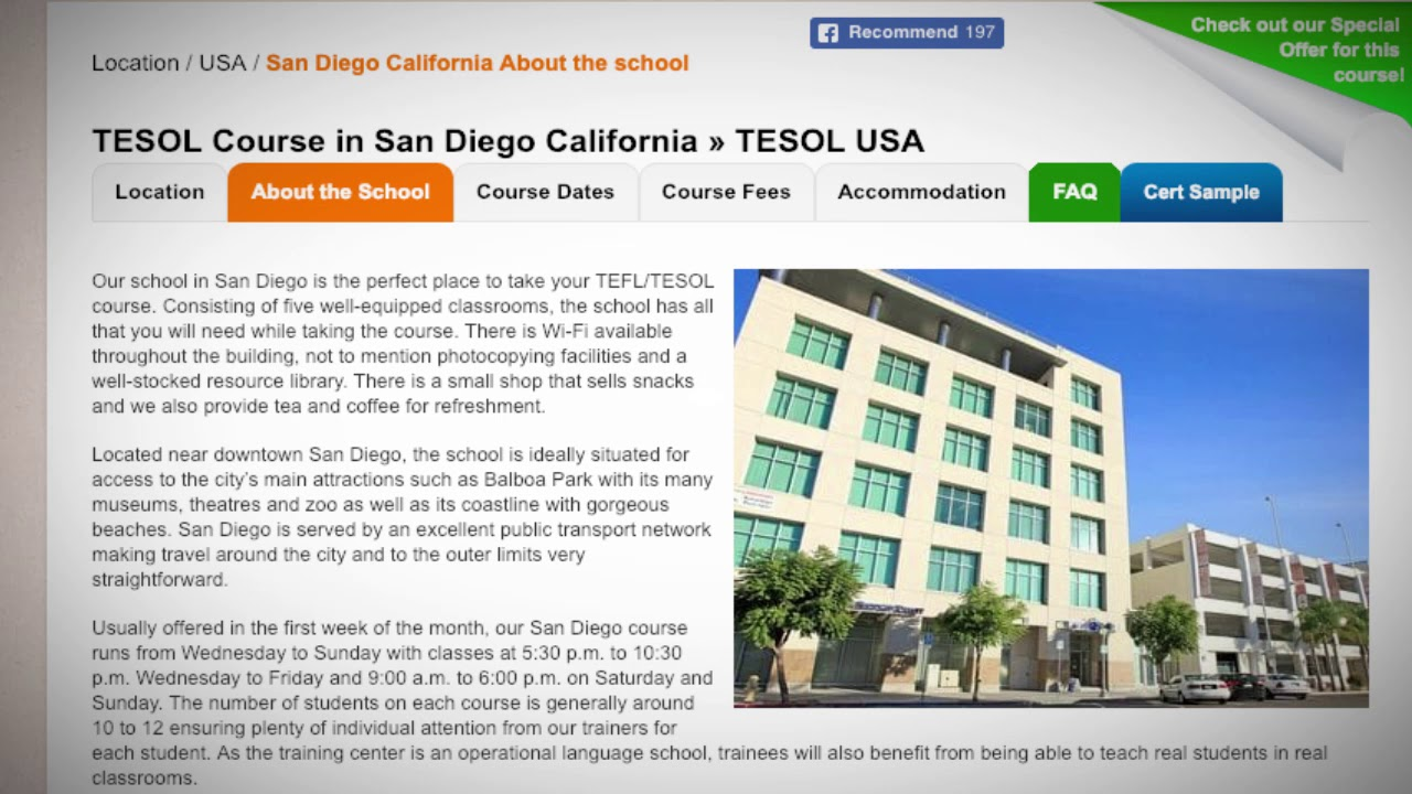 Welcome to Our TEFL / TESOL School in San Diego, USA | Teach & Live abroad!