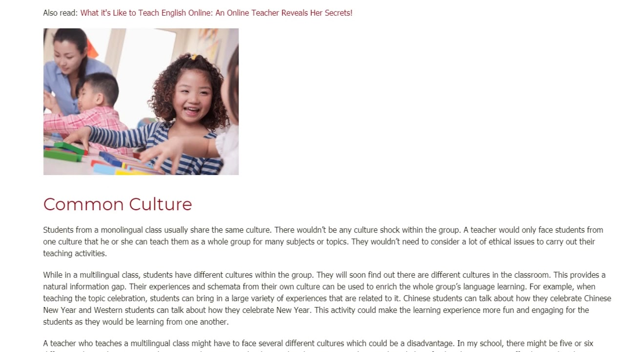 Teaching Monolingual vs. Multilingual Groups: What You Need To Know | ITTT TEFL BLOG
