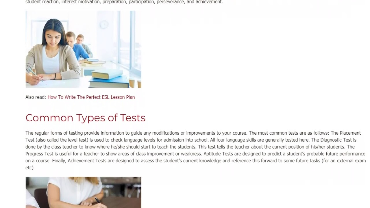The Importance of Evaluation and Testing in an Educational System | ITTT TEFL BLOG