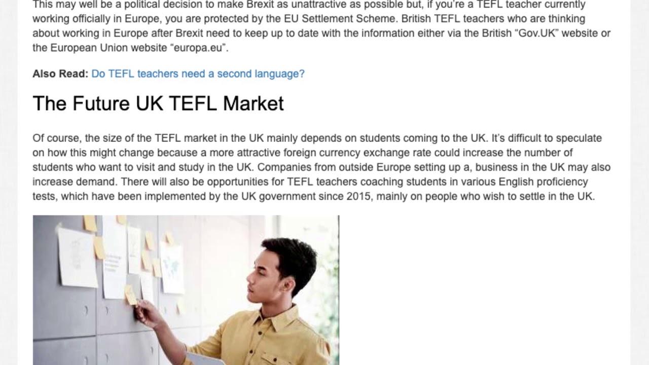 How Will Brexit Affect TEFL Teachers? | ITTT TEFL BLOG