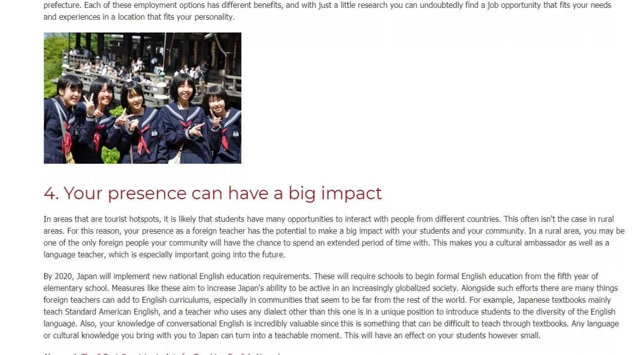 5 Reasons Why You Should Teach English in Rural Japan | ITTT TEFL BLOG