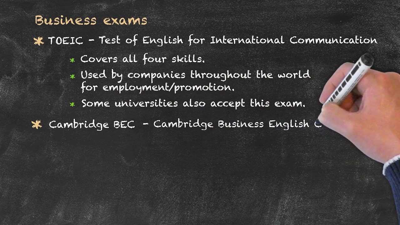Evaluation and Testing of Students – Business English Exams