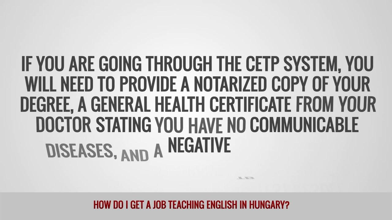 ITTT FAQs – How do I get a job teaching English in Hungary
