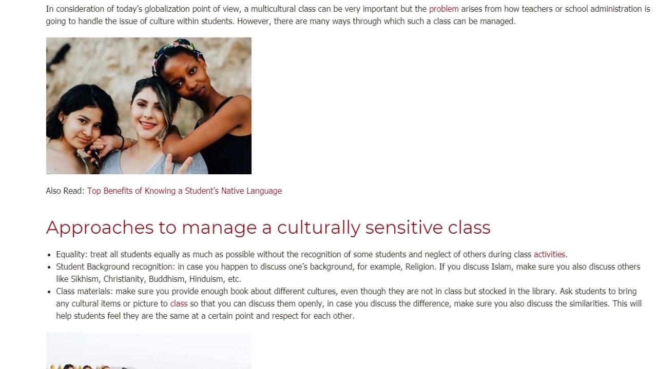 How English Teachers Can Manage a Cultural Sensitive Class | ITTT TEFL BLOG
