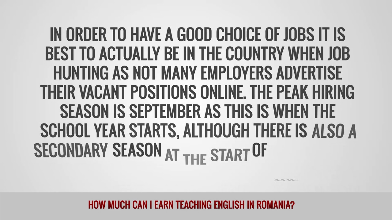 ITTT FAQs – How much can I earn teaching English in Romania?