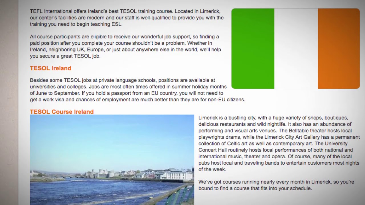 TESOL Course in Ireland | Teach & Live abroad!