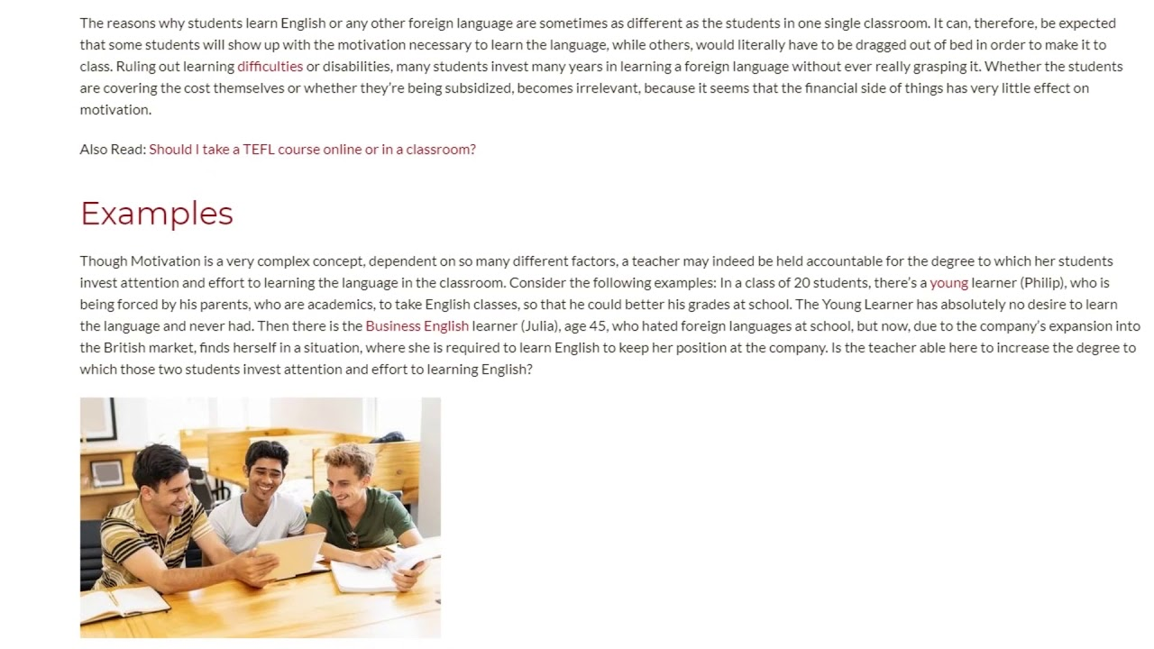 Are Teachers Responsible for Students' Willingness to Learn English  | ITTT TEFL BLOG