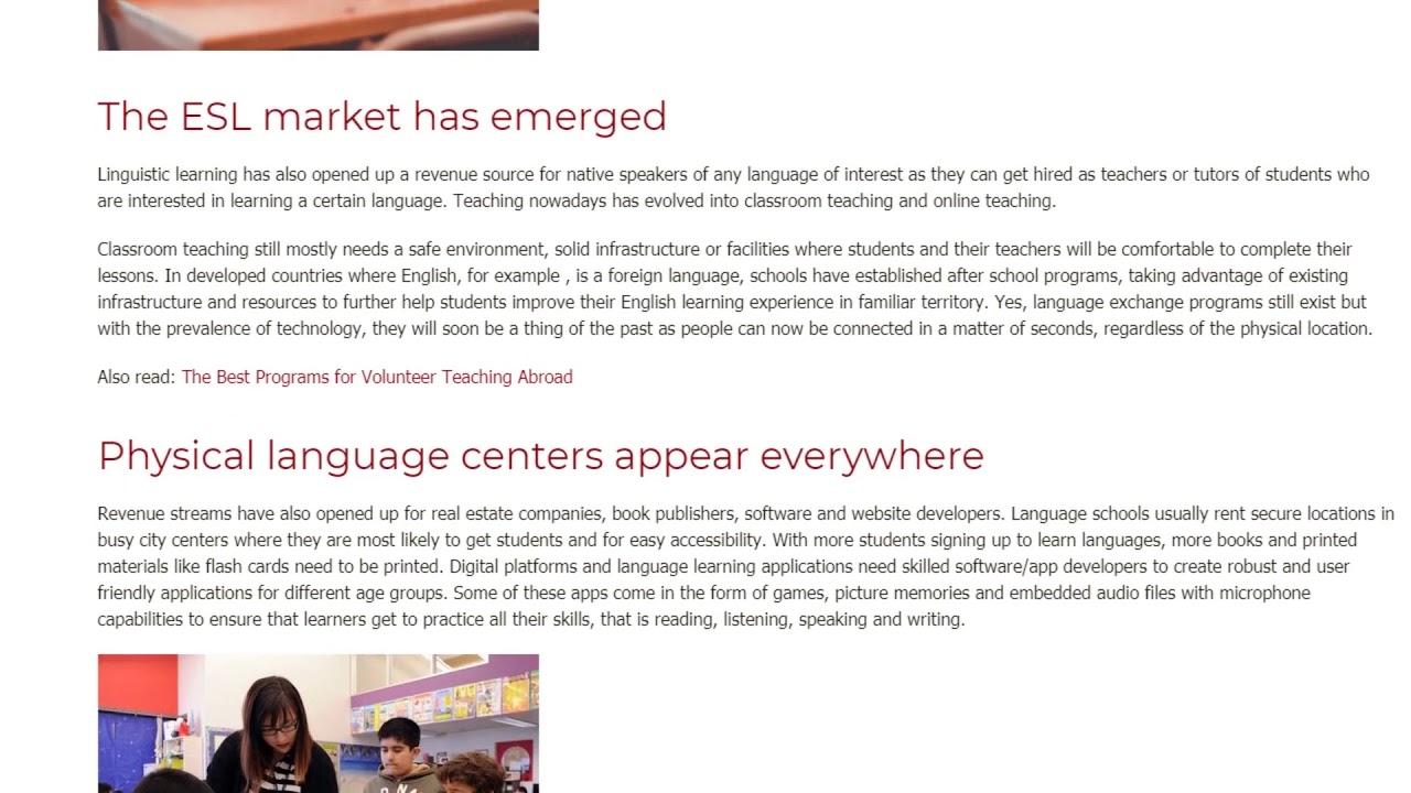 The Boom of English Language Education | ITTT TEFL BLOG