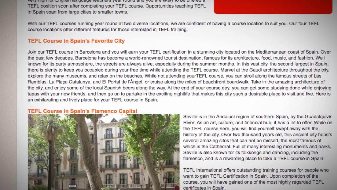 TESOL Course in Spain   Teach & Live abroad!